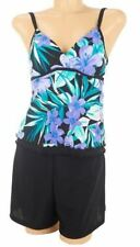 $102~DreamShaper by Miraclesuit Lauren Tankini with Swim Shorts~A232230