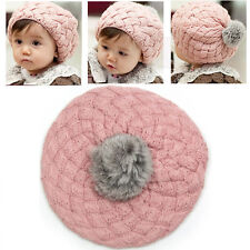4 Colors Cute Baby Girl Toddler Kid Winter Warm Knitted Crochet Beanie Hat Cap