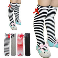 Lace Bow-knot Stocking Colorful Stripes Tights 1-8Years Baby Girls In Tube Socks