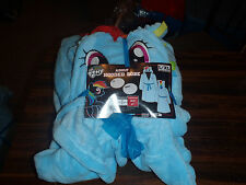 My Little Pony Rainbow Dash Hooded Bath Robe Adult Sizes Small/med & Large/XL