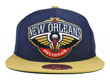 New Orleans Pelicans XL LOGO FITTED 2Tone Mitchell & Ness NBA Hat