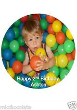 "OWN PERSONALISED PHOTO 7.5 "" INCH ROUND ICING SHEET/RICE/WAFER PAPER CAKE TOPPER"
