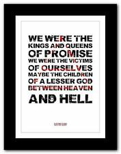 ❤ 30 SECONDS TO MARS Kings And Queens = song words typography poster art  print