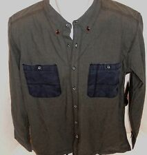 QUIKSILVER Men's Gray Flexy Fin Limited Collection Button Down Shirt Sizes S-XL