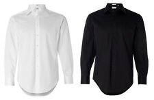 Calvin Klein - Slim Fit Cotton Stretch Dress Shirt, Mens, Black, White (13CK023)