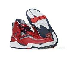 7e1871acca REEBOK PUMP TWILIGHT ZONE CLASSIC RETRO FASHION SNEAKERS RED NAVY NEW MENS  8-13