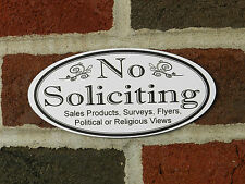 Engraved outdoor NO SOLICITING etc. Home or Business Door Sign FREE SHIPPING