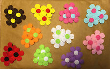 """Gorgeous Felt Flower Embellishments - Card making Scrapbooking Toppers - 1.5"""""""