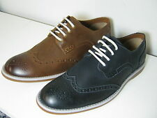 Mens Clarks Farli Limit Midnight or Tobacco Leather Smart Brogue Style Shoes