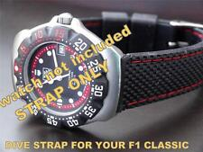 VERY GOOD QUALITY  REPLACEMENT RUBBER DIVE STRAP FOR  TAG HEUER F1 CLASSIC