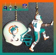NFL MIAMI DOLPHINS WILLIAMS FIGURE & CHOICE OF HELMET OR CAP CEILING FAN PULLS