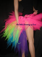 BuRlesQue Tutu Skirt WiTh Multi CoLouRed LonG BusTle choice of colours all sizes