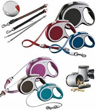 Flexi Vario Tape & Cord retractable dog leads + adable accessories, 3-8m, 8-60kg