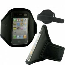 iPhone iPod BLACK NEOPRENE SPORTS WORKOUT RUNNING ARM-BAND GYM ARM STRAP CASE
