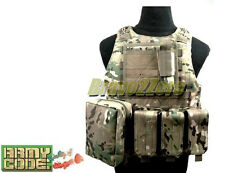 ArmyCode MOLLE FSBE Style Plate Carrier Combat Vest w/ 3 Pouches 4 COLOR