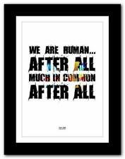 ❤ DAFT PUNK Human After All ❤ typography poster art print - A1 A2 A3 or A4