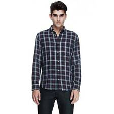 New AX Armani Exchange Mens Muscle/Slim Fit Multi Plaid Twill Button Front Shirt