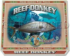 """Get Smoked"" Fishing Tee's  Men & Women ""Reef Donkey"" Amber Jack 100% cotton"