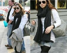 NEW Fashion Womens Winter Long Warm Knit Wool Lovers Neck Scarf Shawl Wrap Cowl