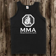 MMA Cage Fighting Mens Vest -- Training Top Mixed Martial Arts Clothing T Shirt