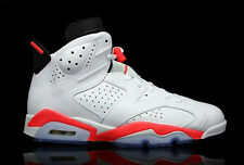 NIKE AIR JORDAN VI 6 WHITE INFRARED US 7 8 9 10 11 12 13 2014 RETRO RED BLACK