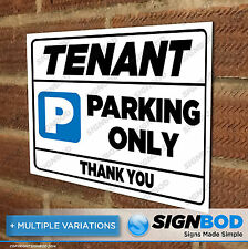 No Parking Sign - Tenant Parking Only