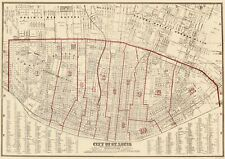 Old City Map - St. Louis Missouri - Hutawa 1870 - 23 x 32.67