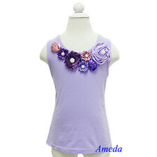Glamorous Lavender Dusty Pink Purple Rosettes Vintage Garden Flower Tank Top