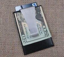 Personalized Leather Wallet w/ Money Clip from Tipo's Creations- Gifts(210)