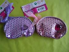 GIRL'S SEQUINED PURSE with a HEART-SHAPED GEM - PINK or LILAC - NEW  FREEPOST -