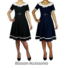 RK80 Rockabilly Sailor Retro Nautical Costume Dress Pin Up Vintage 50s Swing