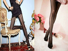 RETRO COLLECTION New Vertical Black Stripe Pattern Stockings Sexy Fashion Tights