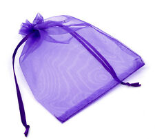 Wholesale HOT!Drawable Organza Wedding Gift Bags&Pouches Dark Purple 16x13cm