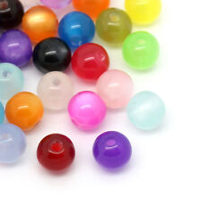 """Wholesale Lots DIY Jewelry Spacer Beads Round Resin 6mm(2/8"""") Dia.Mixed"""