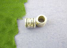Wholesale Lots DIY Jewelry Spacer Tube Beads Silver Tone 6x6mm
