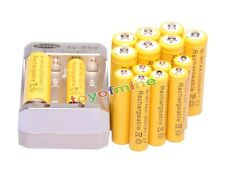 8x AA 3000mAh +8x AAA 1800mAh 1.2V Ni-MH Yellow Rechargeable Battery +Charger