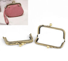 Wholesale HOT! Bronze Tone Purse Bag Metal Arch Frame Clasp Lock 8.7x5.8cm