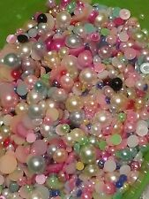 Half Round Pearls Mixed Color & Size 2 -12mm Flat Back Cabochon USA SELLER