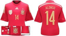 *13 / 15 - ADIDAS ; SPAIN HOME SHIRT SS / ALONSO 14 = SIZE*