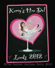 Personalised iron on Hen Do T-shirt Transfer printed on A5 (prints 14cm x 20cm)
