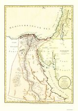 Old Middle East Map - Egypt, Arabia, Palestine - Laurie 1801 - 23 x 32.47