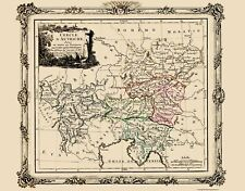 AUSTRIA WITH PROVINCES BY BRION DE LA TOUR (DESNOS) 1786