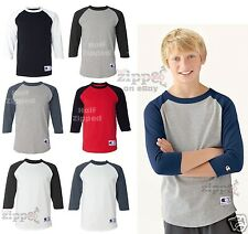 Champion Youth 3/4 Sleeve Baseball T-Shirt T13Y S-XL Raglan Boys or Girls