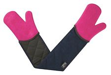 Steam Stop Silicone Waterproof Double Oven Gloves Denim by Zeal
