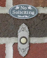 "No Soliciting Sign for Home or Business Door - 1.5"" x 3"" - FREE SHIPPING"
