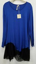 Comfy USA Women's Modal Tunic Top Shirt w Sheer Polyester Style ES1112 NEW!