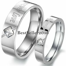 """Stainless Steel """" Forever Love """" Promise Ring Couples Engagement Wedding Band"""