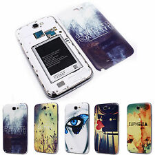 Heart Ditch Be Free Battery Back Door Cover Case for Samsung N7100 Galaxy Note 2