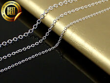 925 Sterling Silver Stamp - Rolo Chain Necklace 16,18,20,22,24,26,28,30 inch