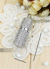 Genuine Crystal Necklace Model 4-32GB USB2.0 Enough  Memory Stick Pen Drive RL39
